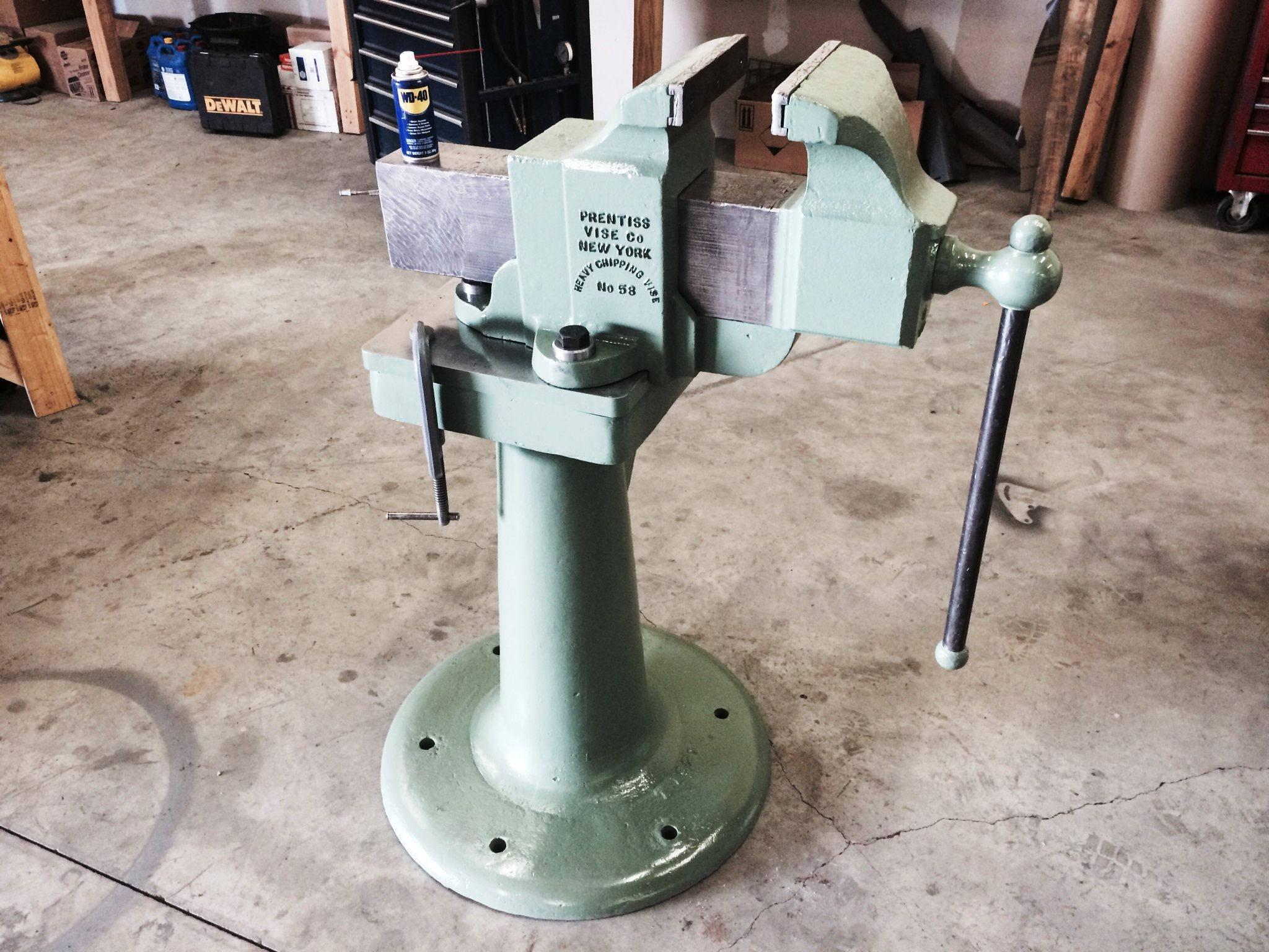 Here Is A Restored Prentiss 58 On A Actual Vise Stand