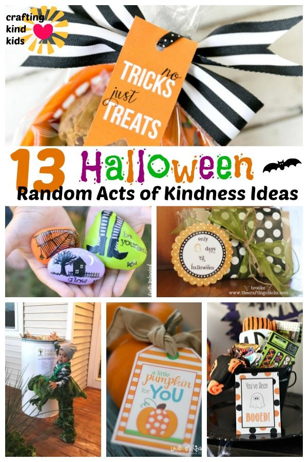 How To Be KIND of Spooky with 13 Halloween Kindness Activities #spookybasketideas
