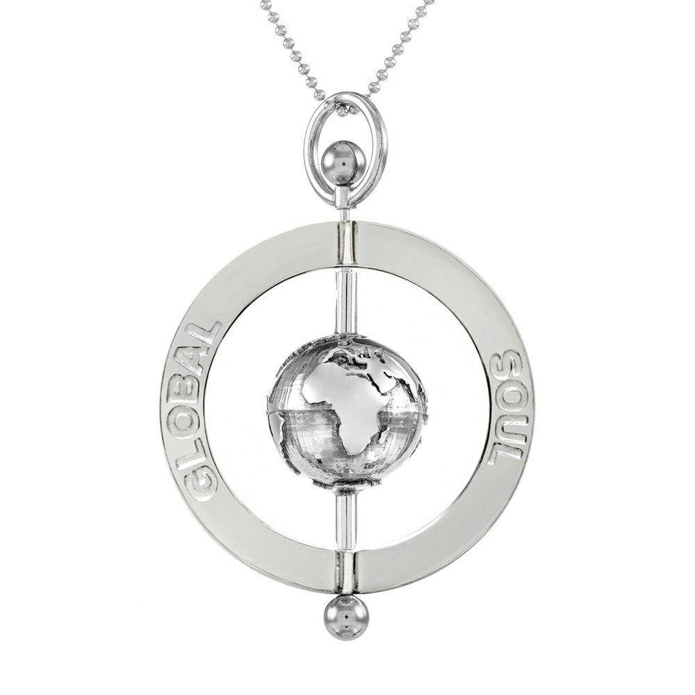 World peace spinning globe pendant 4cm rose gold sterling silver world peace spinning globe pendant aloadofball Choice Image