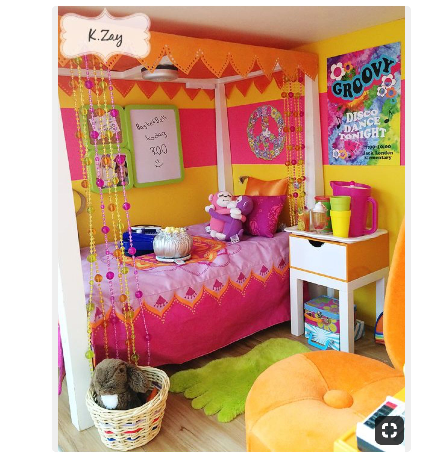 My granddaughters JLY doll in bedroom she shares with