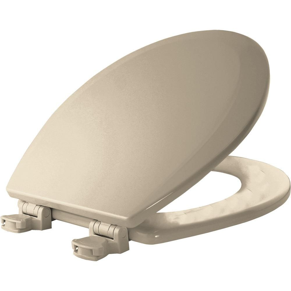 Bemis Lift Off Round Closed Front Toilet Seat In Almond Brown