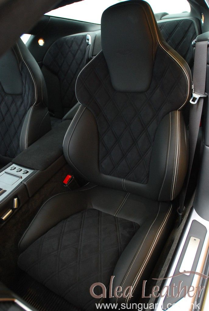 Aston Martin DB9 2005 Custom leather interior by Alea Leather
