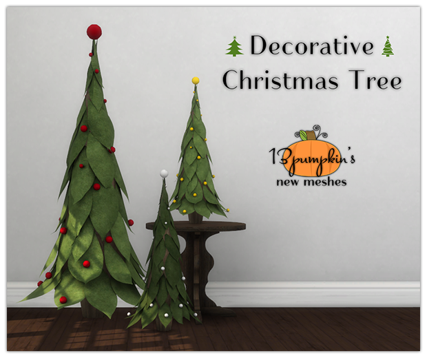 Sims 4 CC's - The Best: Decorative Christmas Tree by 13pumpkin31
