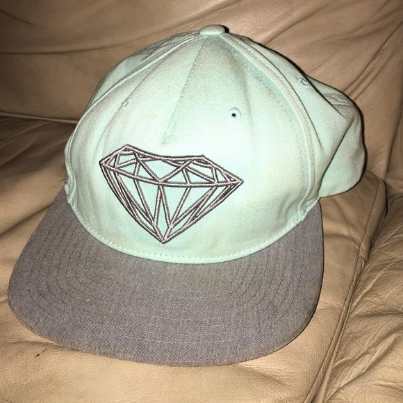 Hat Teal and grey diamond supply co hat Diamond supply co Accessories Hats