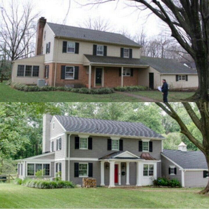 Ideas For Painting A Half Brick Half Siding Home Home Exterior Makeover House Paint Exterior Exterior House Colors