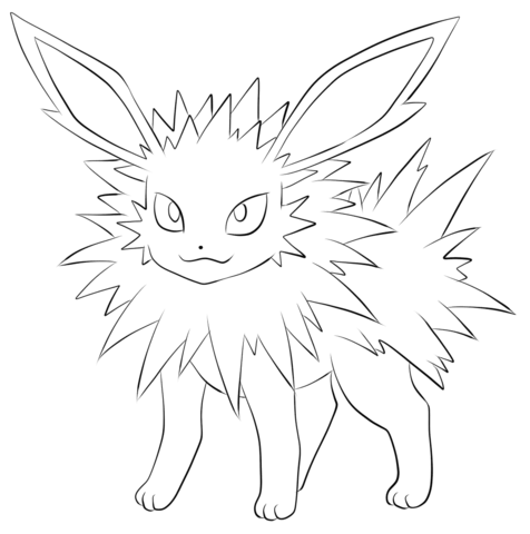 Jolteon Coloring Page Pokemon Coloring Pages Pokemon Coloring Horse Coloring Pages