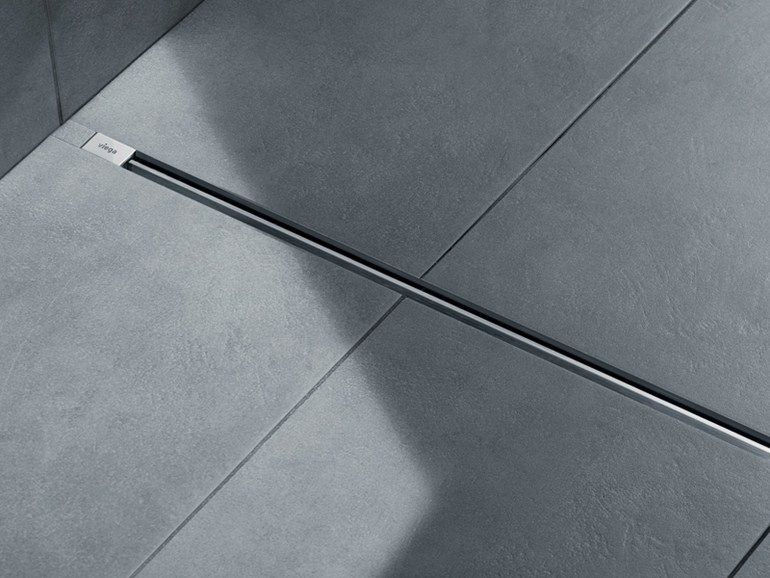 Stainless Steel Shower Channel Advantix Vario Viega Italia Shower Drain Floor Drains Bathroom Sanitary