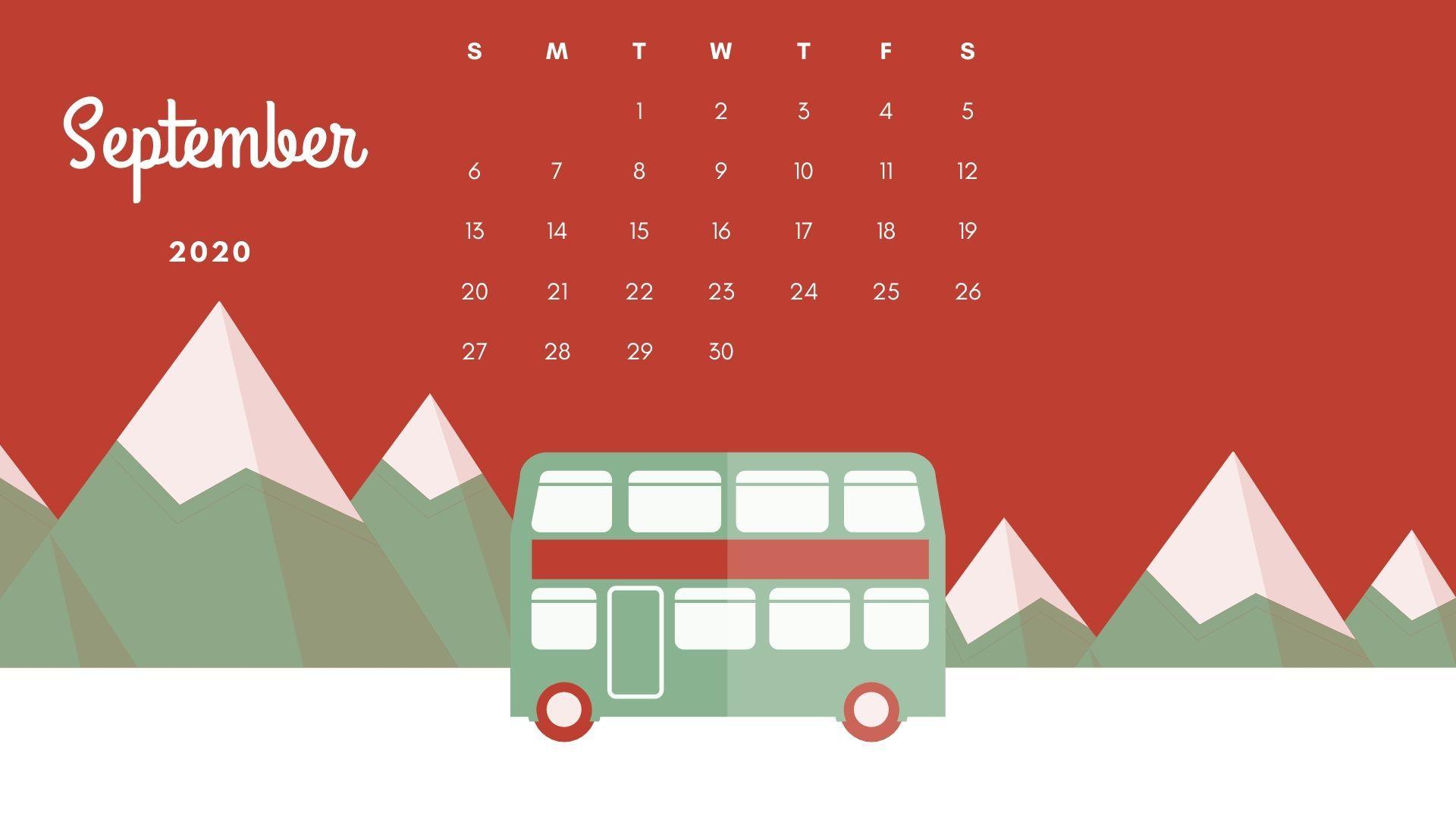 Free September 2020 High Definition Calendar Wallpaper Download For Pc In 2020 Calendar Wallpaper September Calendar Calendar