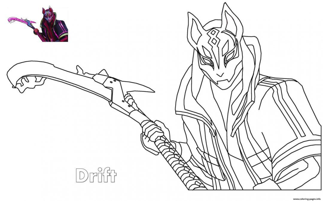 Fortnite Drift Printable Coloring Pages