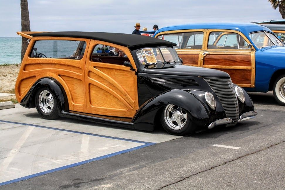1937 Ford Woody Custom - Woody Gathering Doheny Beach 2015 - Jim Alvey Photo - Google Photos