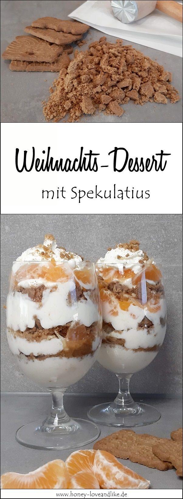 Spekulatius Schichtdessert mit Mandarinen und Orangenmarmelade #cookiesalad