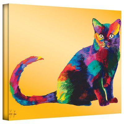 "ArtWall ""Dark Velvet"" by Linzi Lynn Gallery Wrapped on Canvas & Reviews | Wayfair"
