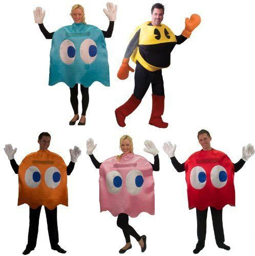 Pac-Man Deluxe Group Costume Set Of 5 by InCogneato holiday ideas - halloween costume ideas for groups of 5