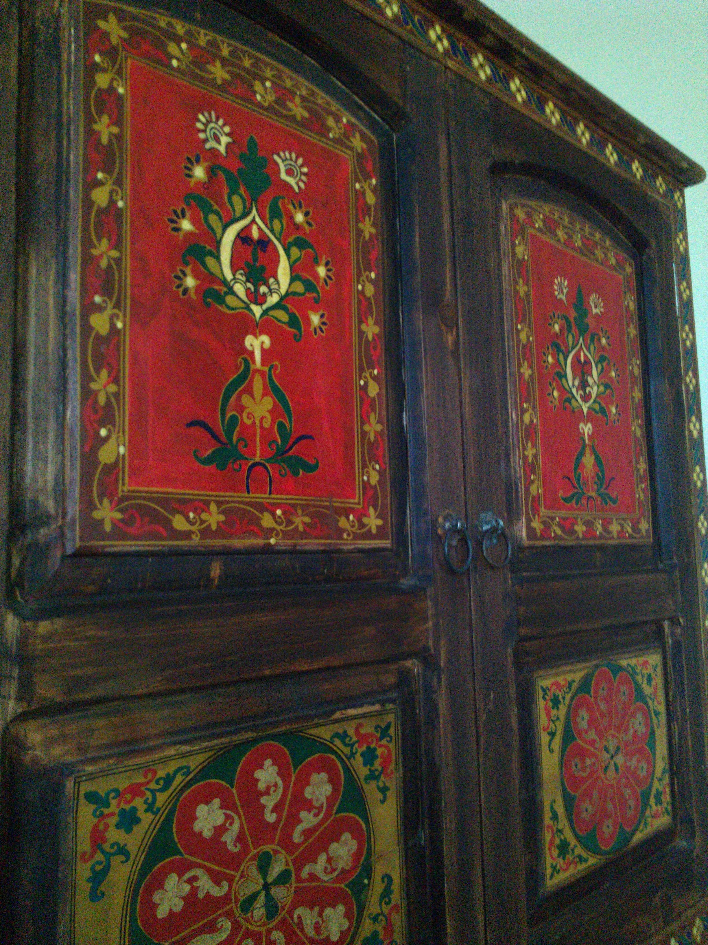 Beautiful Hand Painted Armoire From Pakistan.