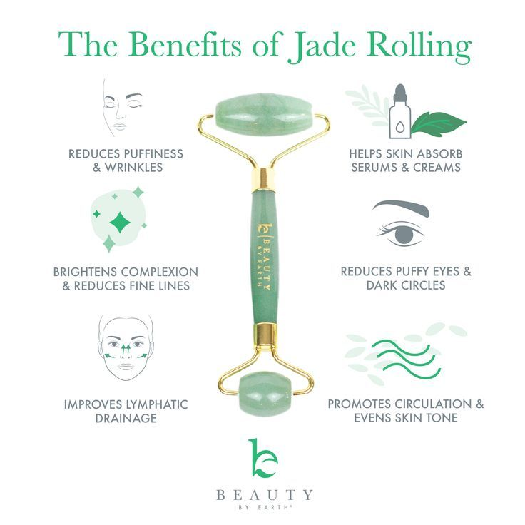 Jade Roller - Beauty By Earth | Organic & Natural