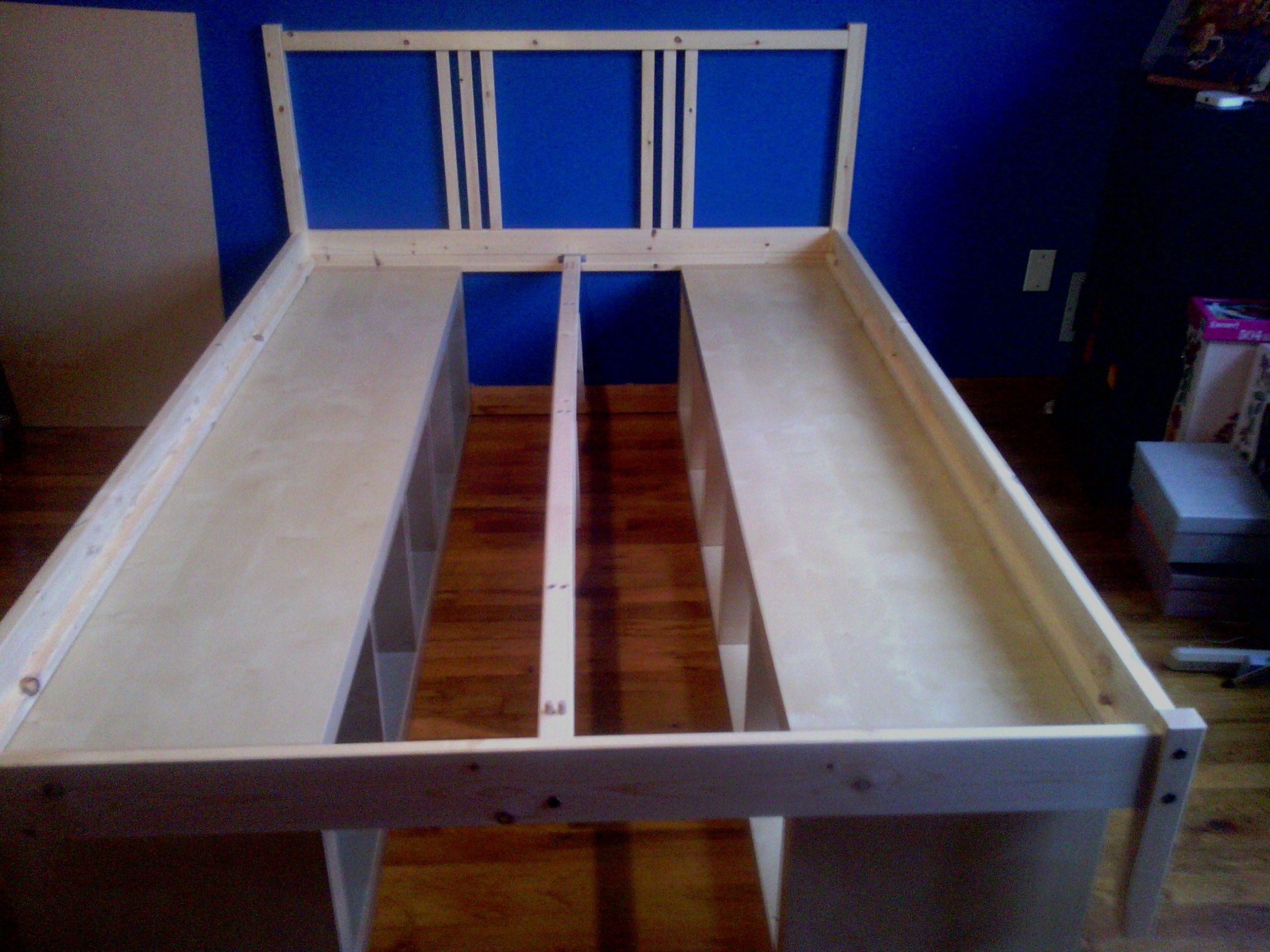 Diy Bookshelf Bedframe