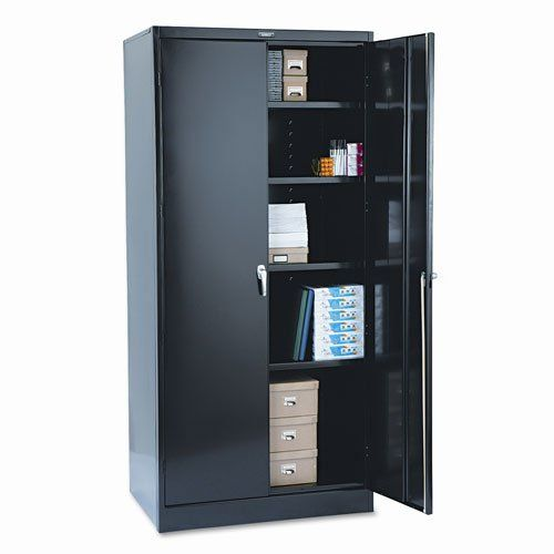 tennsco 2470bk 36 by 24 by 78-inch deluxe steel storage cabinet