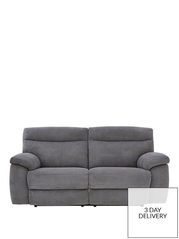 Violino New Oxton Fabric 3 Seater Manual Recliner Sofa In