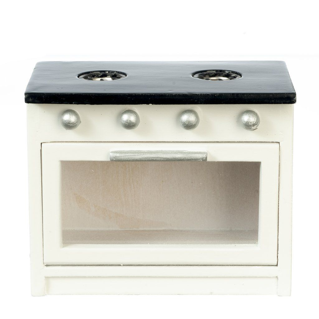 Black & White Dollhouse Miniature Kitchen Stove #miniaturekitchen