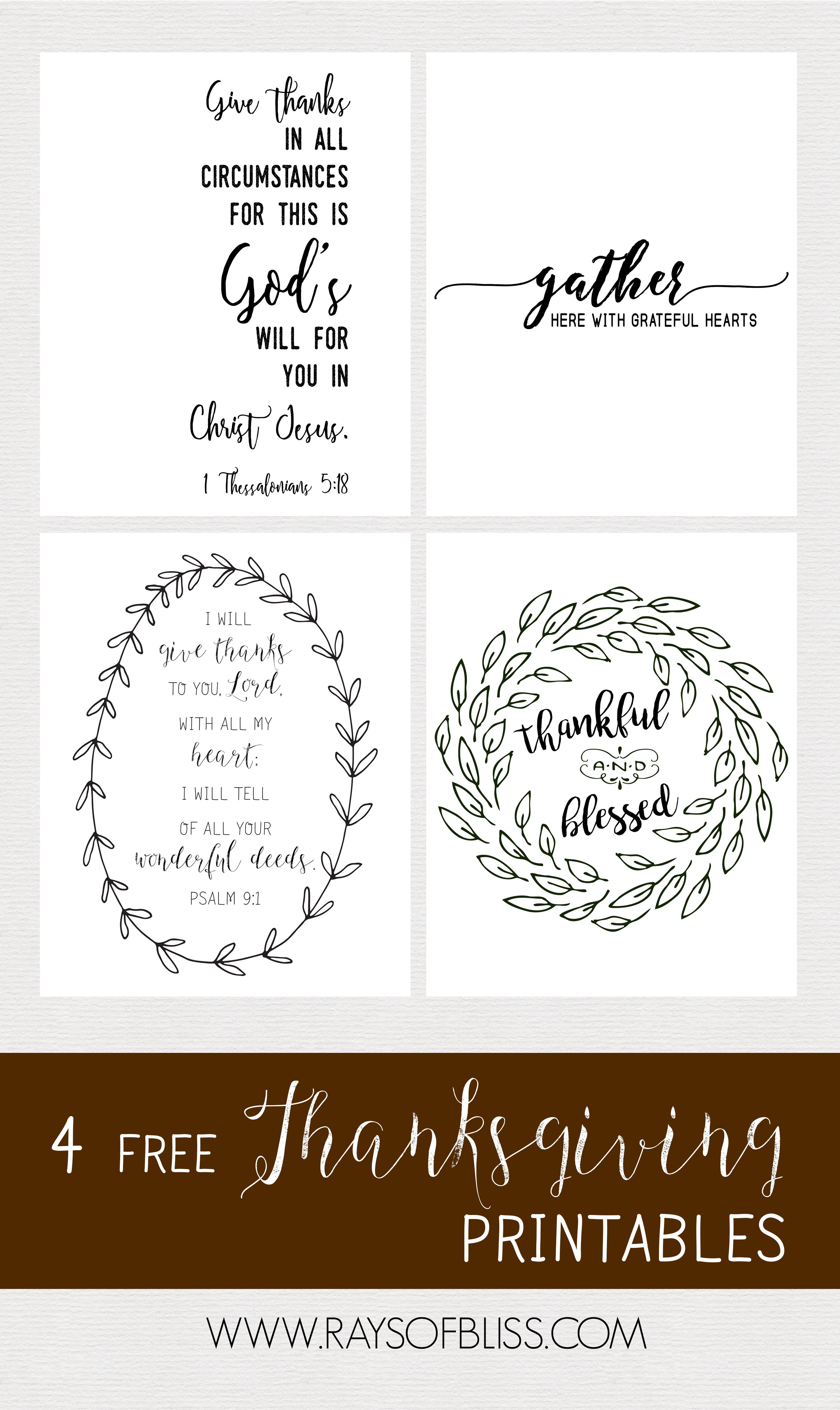 Free Printable For 12 Months Of Pre Planned Date Nights: 4 Thanksgiving Free Printables Bible Verses & Quotes: 1