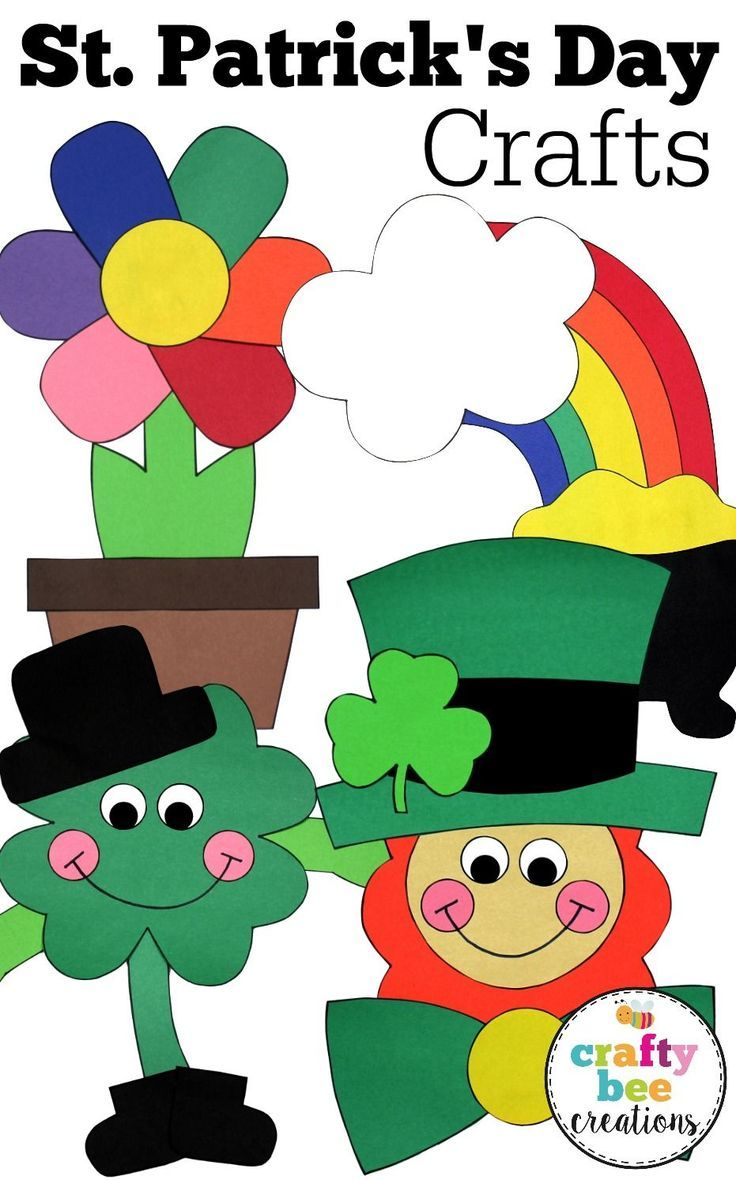 These St. Patrick\'s Day crafts for kids are just darling! They are ...