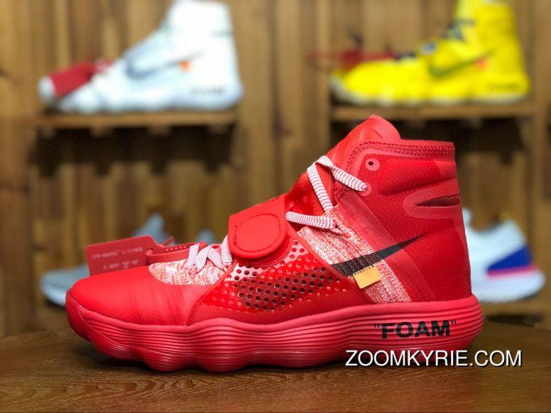2e3db91efc6 Virgil Abloh Off-White X Nike REACT Hyperdunk Surgeon Red 2017 Big Red Black -Orange AJ4578-102 Free Shipping