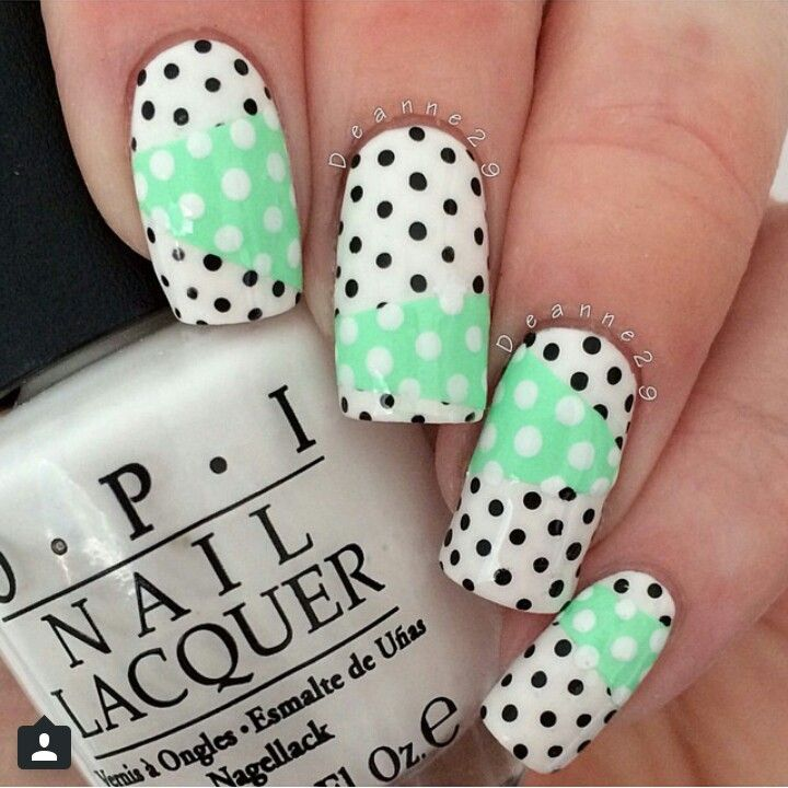 Different size does tape design luv nails cute nails