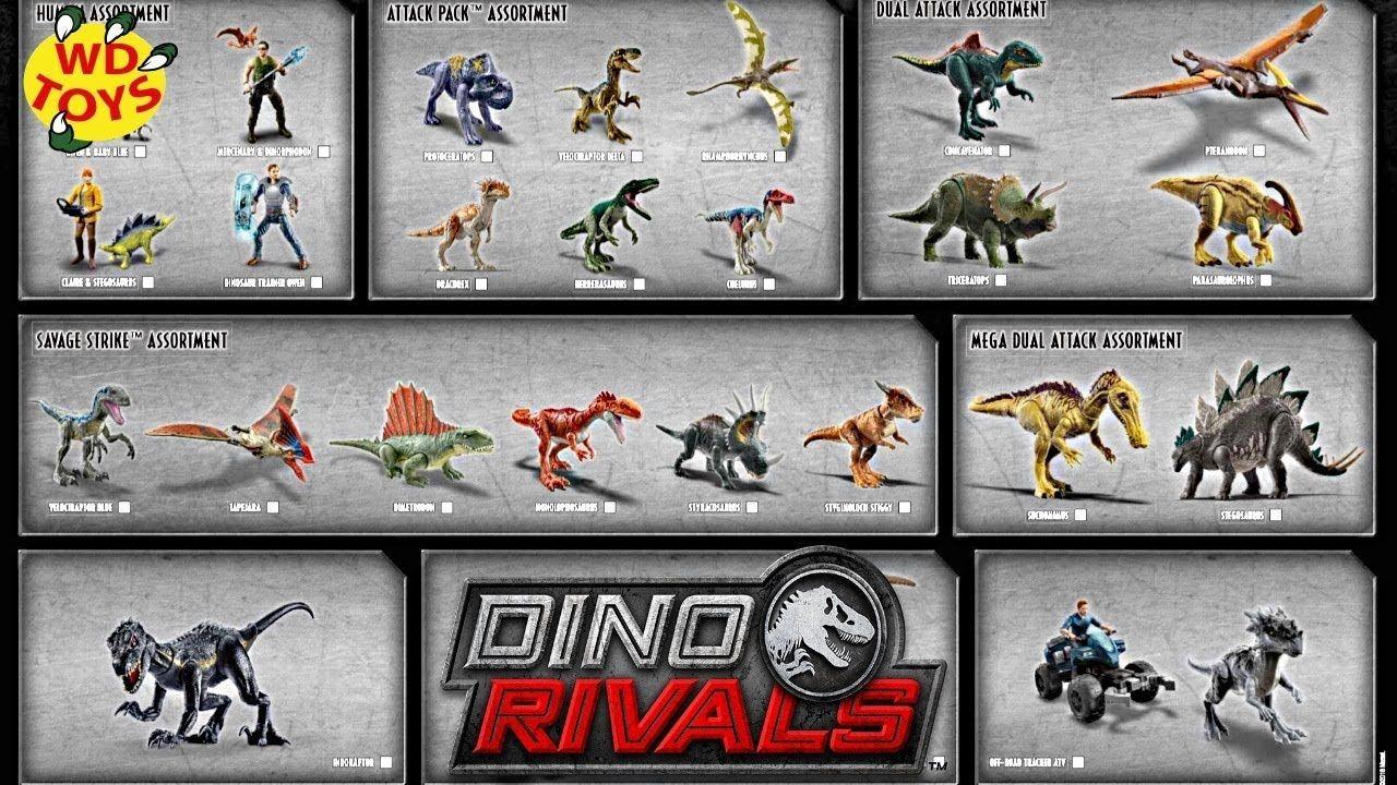 Jurassic World Dino Rivals Roarivores Dinosaur Action Figure Assortment Choose