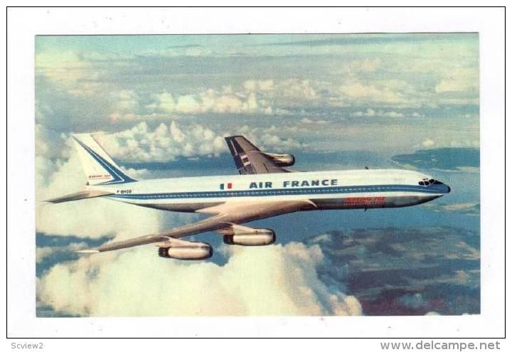 AIR FRANCE Boeing 707 Jet Airplane, 1960-70s (Item number