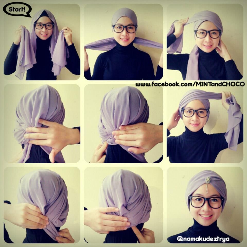Turban Hijab Tutorial 1000 Images About Hijab Styles On