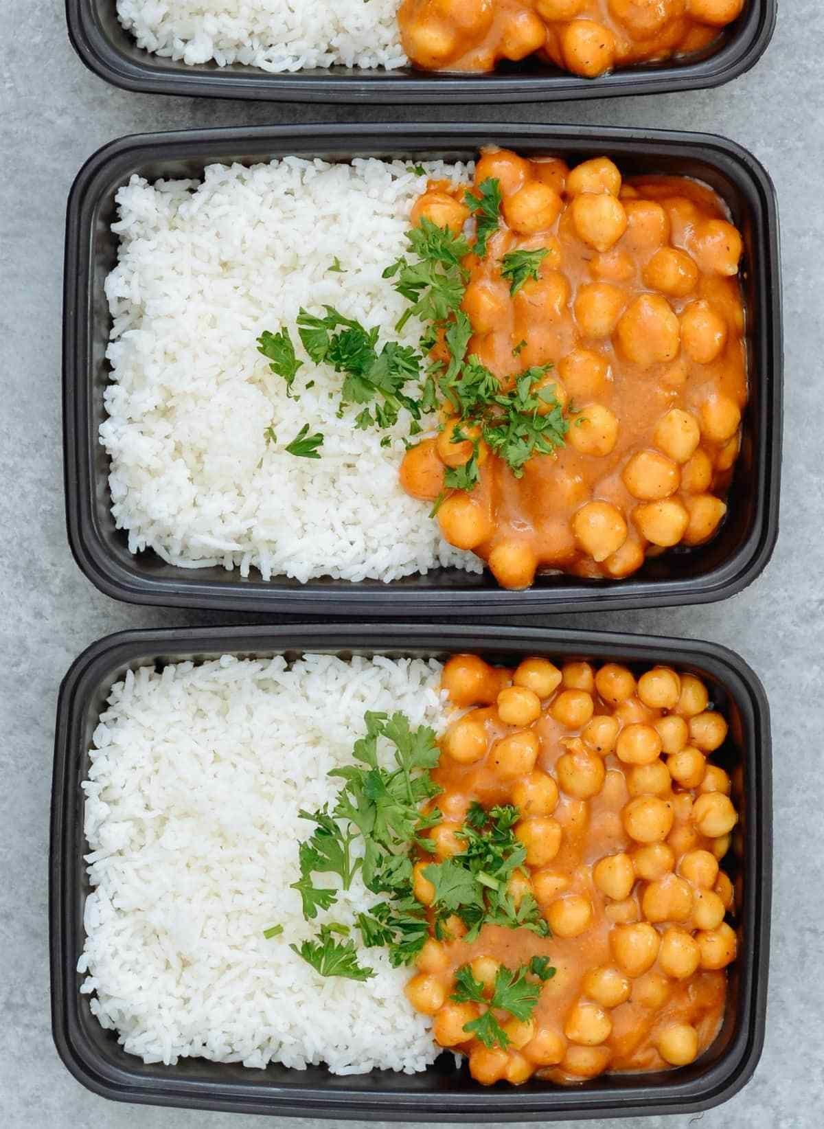 Vegan Chickpea Curry Basmati Rice Meal Prep Meal Prep On Fleek Recipe Vegan Chickpea Curry Whole Food Recipes Vegetarian Meal Prep
