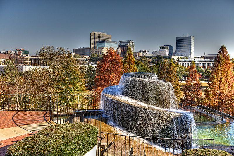 Finlay Park Fountain Columbia South Carolina Waterfall Natural Flow But Needs A Way To Propel Water Upwards