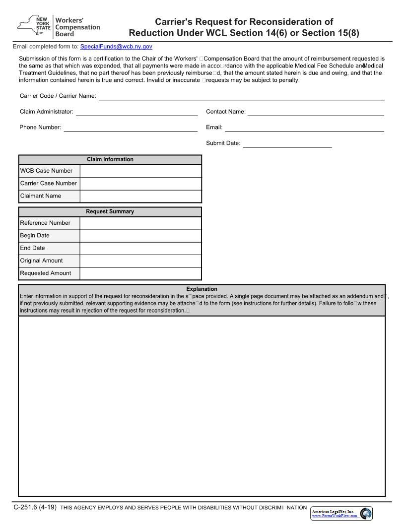 Carriers Request For Reconsideration Of Reduction News York Words New york state bill of sale form