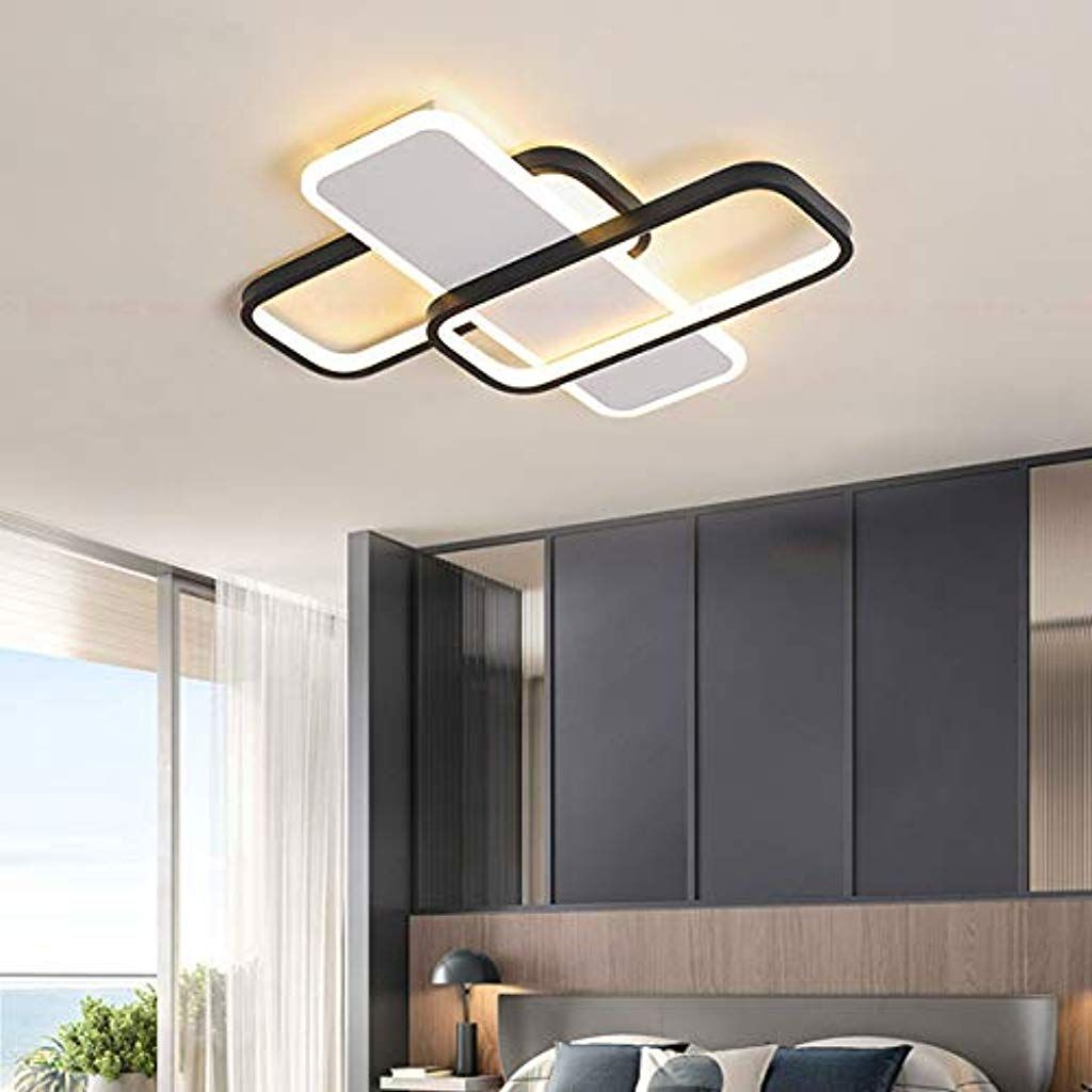 Schlafzimmer Leuchte Deckenleuchte Dimmbar Modern Led Wohnzimmer Deckenlicht Metall Acryl Eckig Design Pendelleuchte Fur Innen La Deckenlicht Led Pendelleuchte