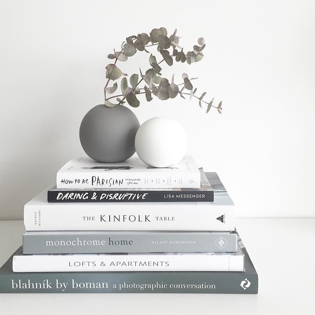 Books In Gray And White Coffee Table Books Decor Kinfolk Table