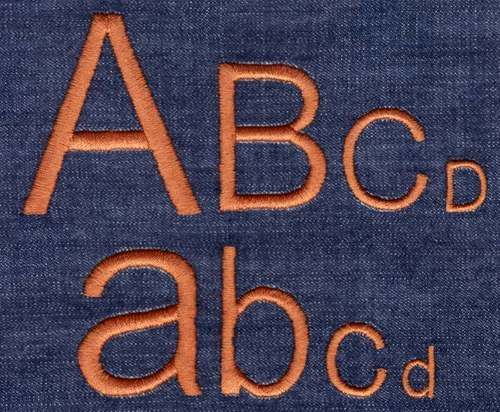 401 Arial Satin Font | Embroidery Fonts | Fonts, Embroidery