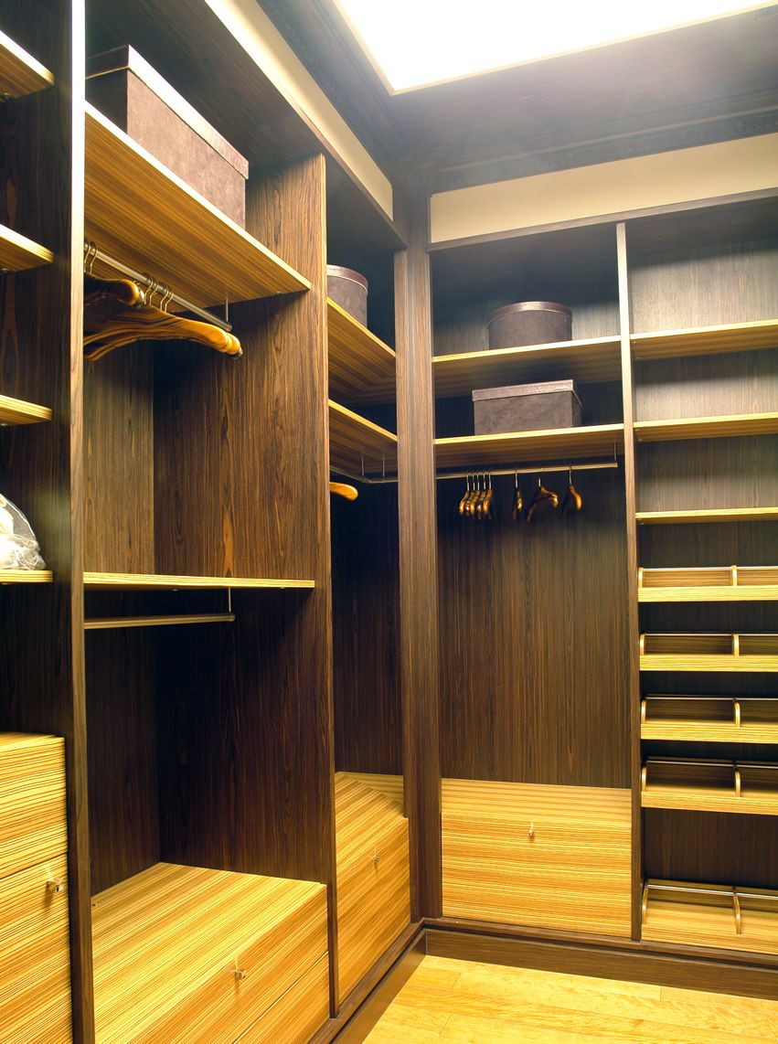 Walk in closet with storage