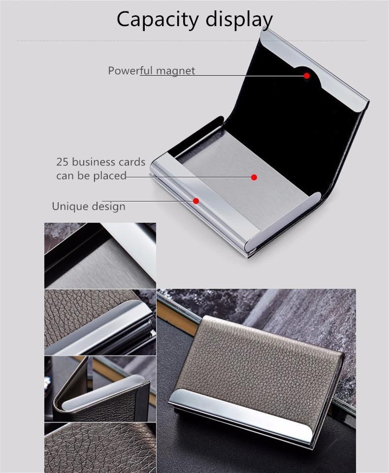 Mens RFID Slim Minimalist Money Clip Credit Card Holder Wallet Gift Boxed 820