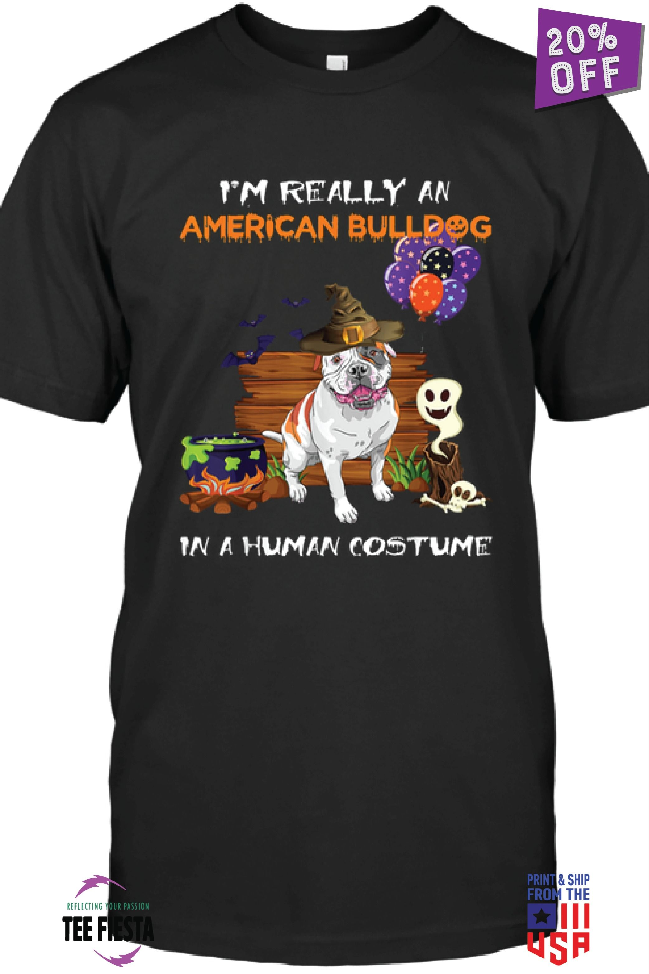 AMERICAN BULLDOG HALLOWEEN | FUNNY HALLOWEEN UNISEX SHIRTS | GET 20% OFF | LIMITED TIME OFFER #funnybulldog