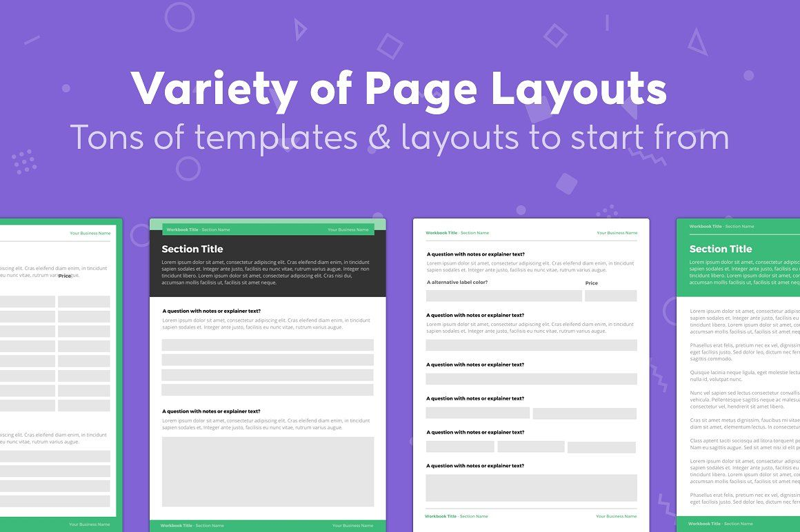 Canva Workbook Template Bundle With Images