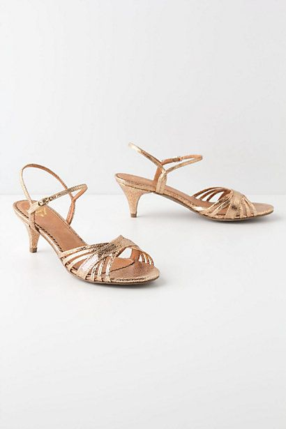 Miss Albright Style Crush Gold Kitten Heels Heels