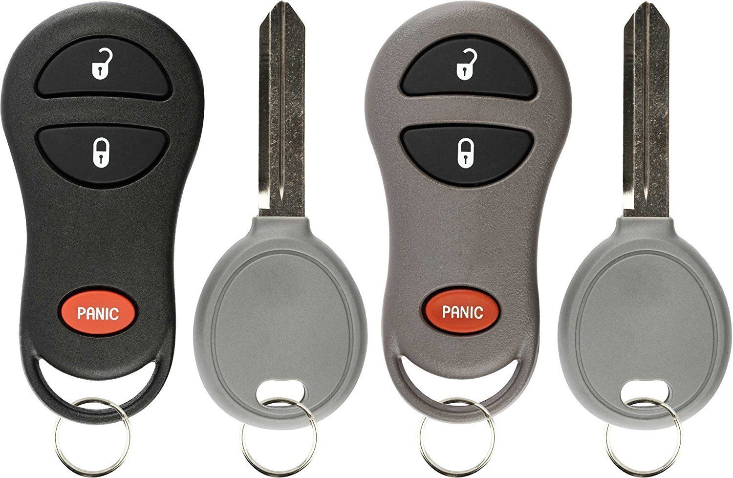 Keylessoption Keyless Entry Fob Remote Uncut Ignition Car Key Replacement For Jeep 56036859 56036860 Car Key Replacement Key Replacement Key Fob Replacement