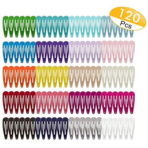 Amazon Com 120 Pack 2 Inch Snap Hair Clips Hair Barrettes Solid Candy Color Snap Barrettes For Girls Kids Women In 20 Hair Barrettes Hair Clips Candy Colors
