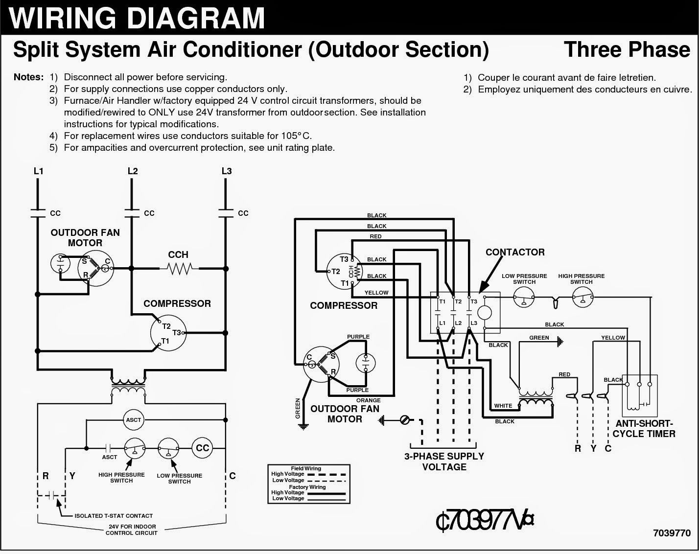 image result for wiring diagram of split ac 380 volts 10 tons