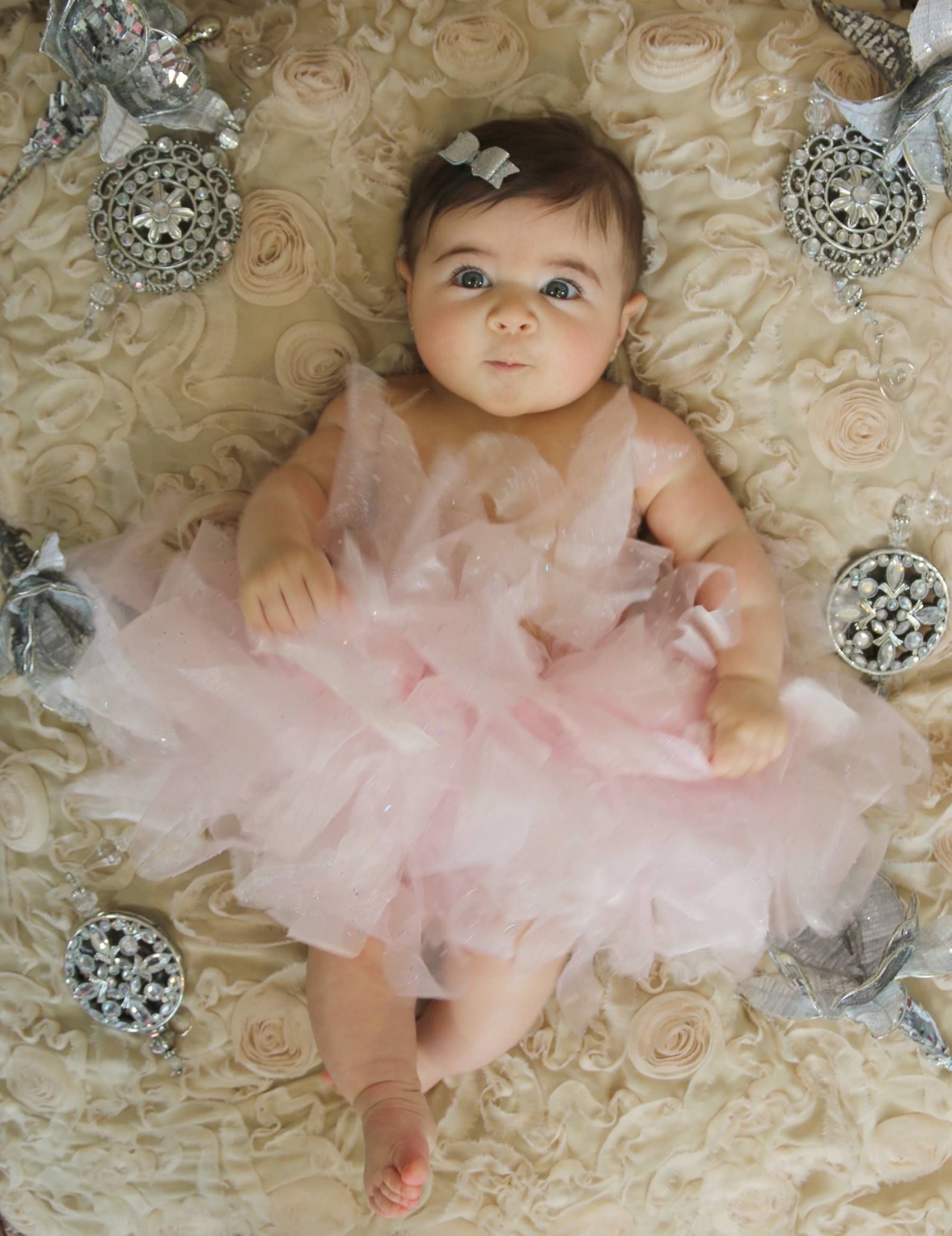 7th Month Photoshoot Baby girl pictures Spring Theme  Baby girl