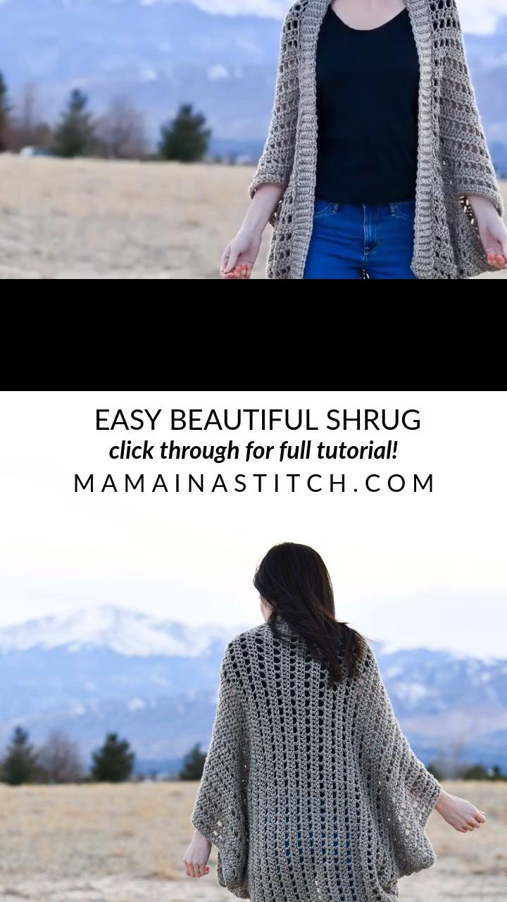 Photo of Beautiful Beginner Shrug Free Crochet Pattern & Video Tutorial