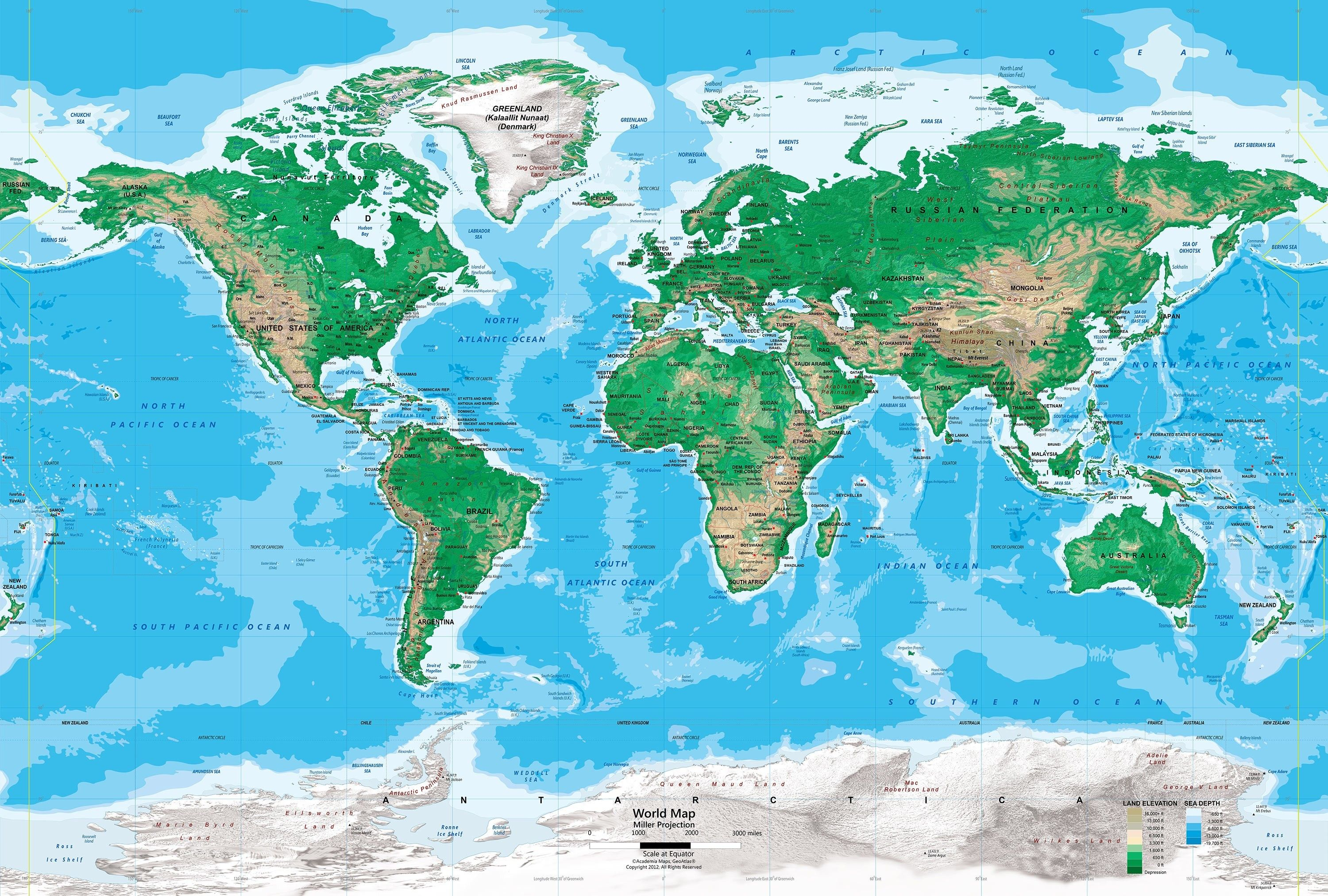 World Map By Elevation Best Of World Elevation Map