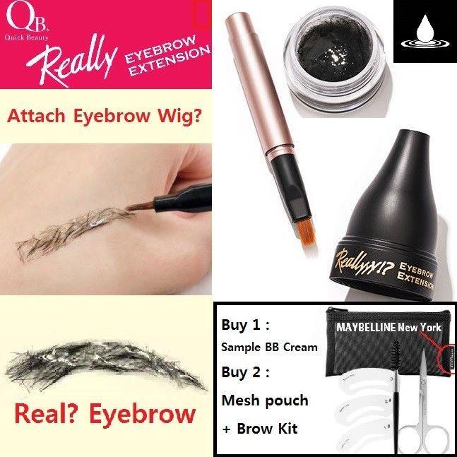 Quick Beauty Really Eyebrow Extension 3g Black 3 D Fiber Eyebrow Wig