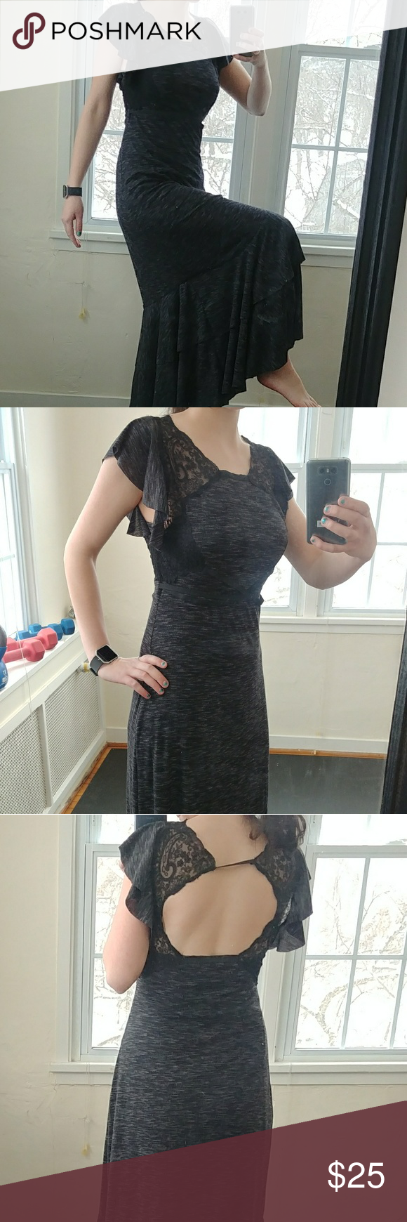 Long dress with cutout back floor length dresses confused and