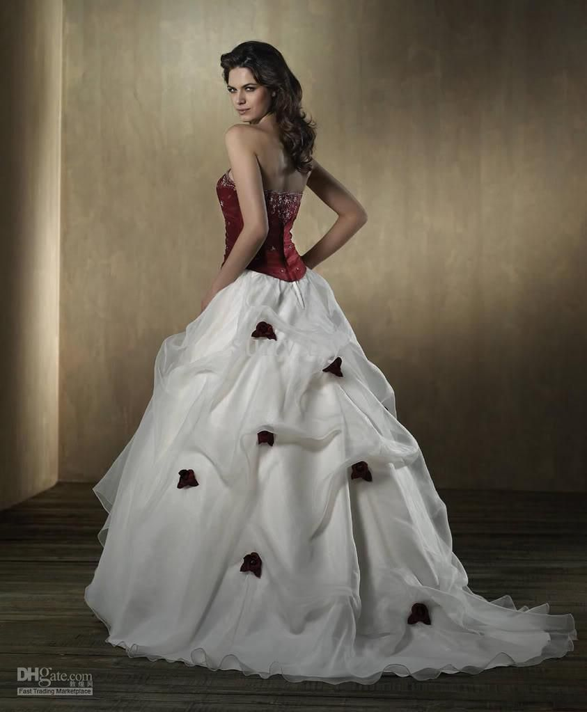 Wine red and white wedding dress wedding pinterest white wine red and white wedding dress ombrellifo Gallery